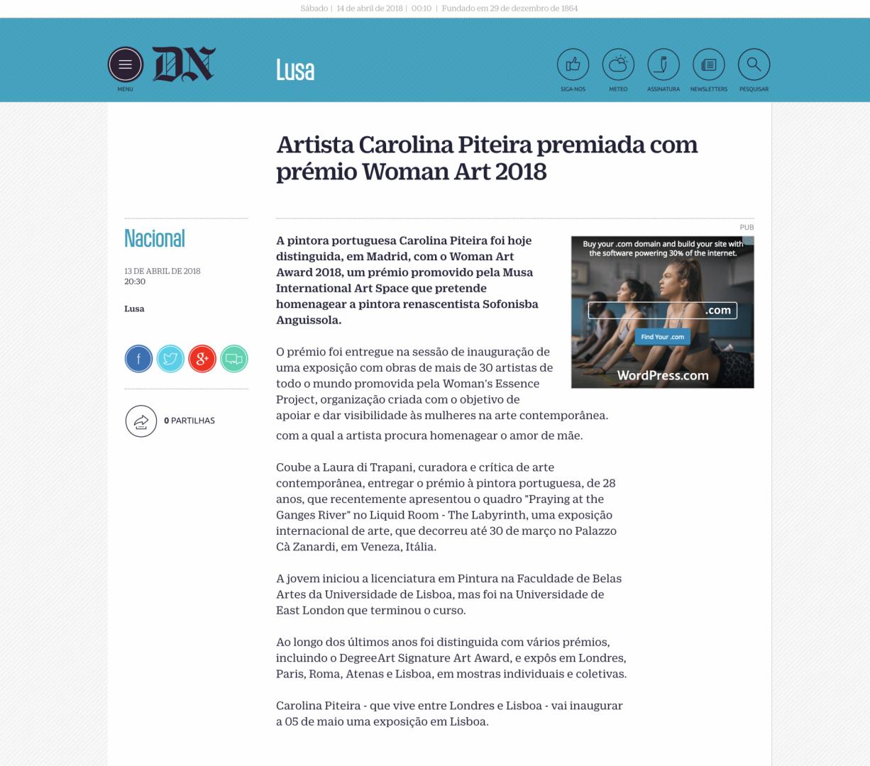 Carolina Piteira Press Diário de Notícias (1)