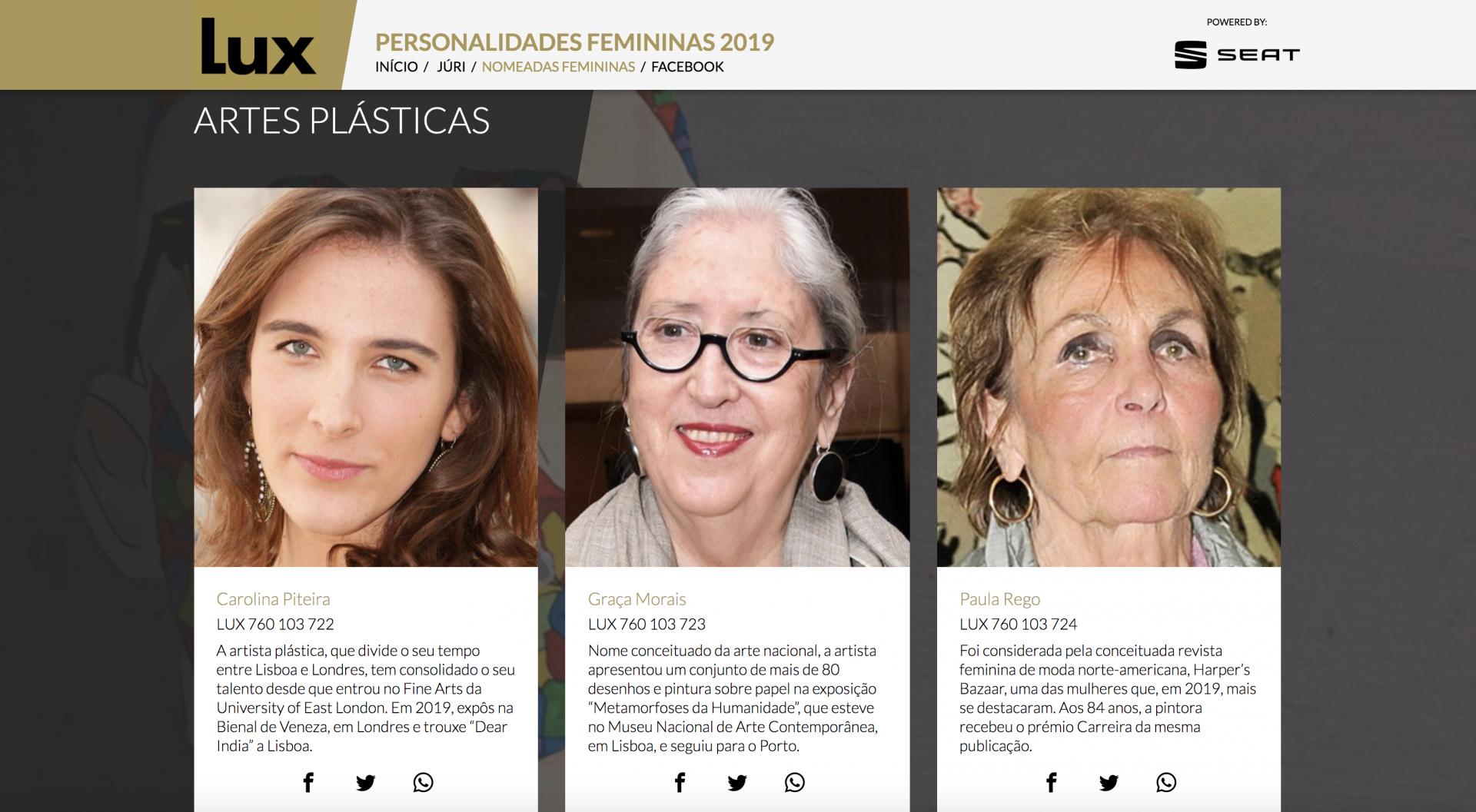 Carolina Piteira Press Nomeações Personalidades Femininas da Revista Lux  (1)